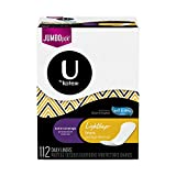 U by Kotex Lightdays Natural Balance Lightdays Extra Coverage Liners, 112 Count