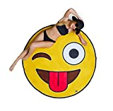 BigMouth Inc Gigantic Emoji Beach Blanket– Fun Beach Blanket Perfect for the Beach, Pool, Lake and More, Machine Washable