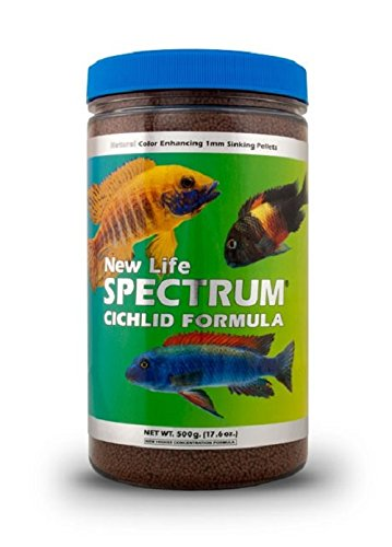 New Life Spectrum Cichlid Formula 1mm Sinking Freshwater Pet Food, 500gm by New Life Spectrum