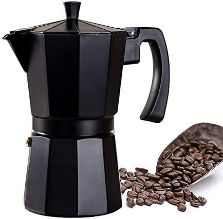WECOOK Cafetera aluminio LUCCIA apta inducción, 1-3 tazas, Acero Inoxidable, Negro: Amazon.es: Hogar