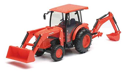 NEWRAY 1:18 KUBOTA - L6060 TRACTOR WITH BACKHOE AND LOADER from NewRay