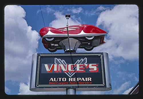 HistoricalFindings Photo: Vince's Auto Repair Sign,Denver,Colorado (Repair Denver Furniture)