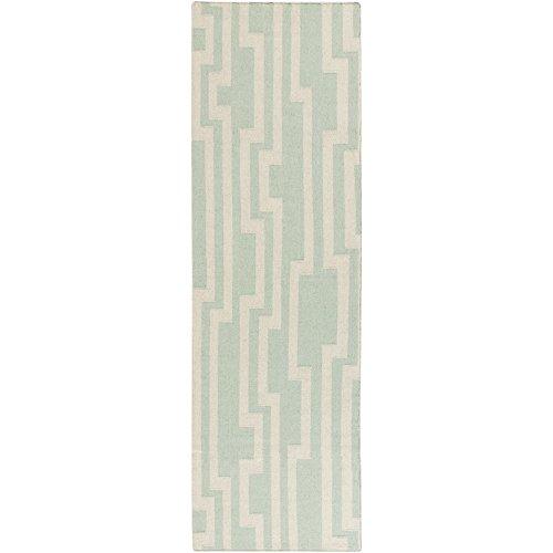 Surya Candice Olson by Market Place MKP-1010 Flatweave Hand Woven 100% Wool Pale Aqua Green 2'6