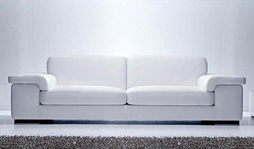 Calia Maddalena–Sofa Zeitgenössisch Mondial Leder geschliffen Divano 2 posti - 200x84x100 cm Pelle Smerigliata Verde