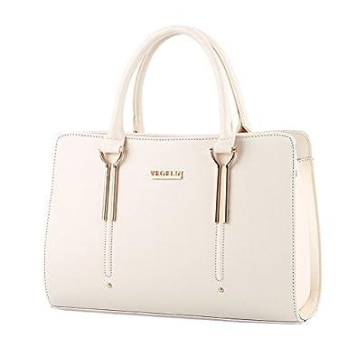 4b9459a5938 Womens Pure Color Pu Leather Boutique Tote Bags Top Handle Handbag: Handbags:  Amazon.com