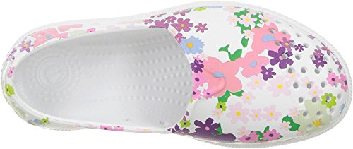 Pictures of Native Kids Print Verona Water Proof Shoes, Shell White/Shell White/Daisy Chain, 10 Medium US Toddler 3