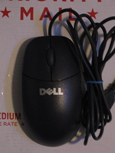 Genuine Dell YH958 Black 2-Button USB Corded Ball Mouse with Scroll Wheel, Compatible Dell Part Numbers: X7636, YH933, F4177, W7751