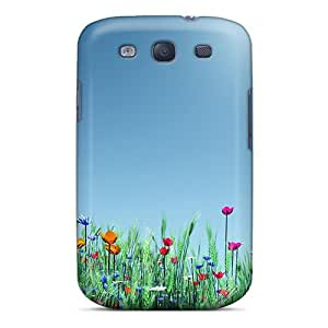 New Style Happycatcase Flower Field On A Sunny Day Premium Tpu Cover Case For Galaxy S3