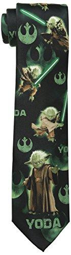 Star Wars Men's Master Yoda Tie, Charcoal, One Size (Star Wars Tie)