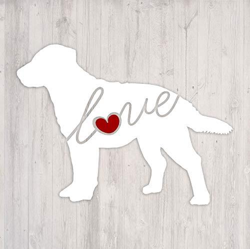 Chesapeake Bay Retriever Love (Chessie) - Car Window Vinyl Decal Sticker (Script Font)