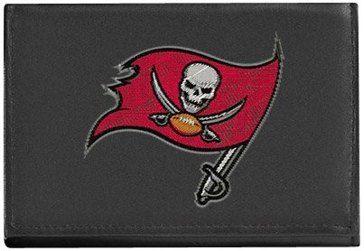 NFL Tampa Bay Buccaneers Embroidered Genuine Leather Trifold Wallet