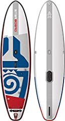 This fun-first inflatable board has a straight outline, keeping it slim and simple to paddle in a straight line, encouraging more correct paddle technique. You'll have plenty of stability from the wide tail - you can hop on the tail and kick ...