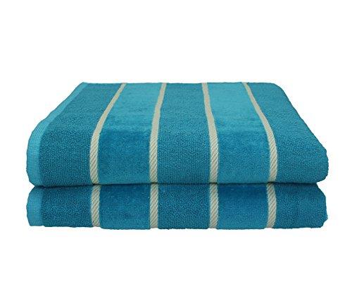 Betz 2 Stück Duschtücher Badetücher Duschhandtuch Sporthandtuch Handtücher Set ICELAND 100% Baumwolle Größe 70x140 cm Farbe petrol