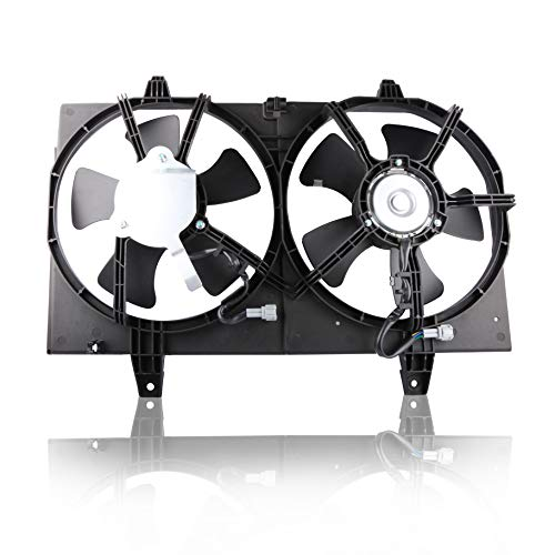 MOSTPLUS Radiator Dual Cooling Fan Assembly for 2000 2001 Nissan Maxima Infiniti I30 3.0L