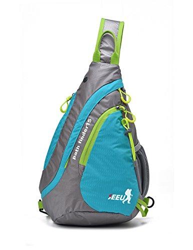 SHOWTIMEZ Sling Tasche, Wasserabweisende Reißfeste Rucksack Brusttasche Schultertasche Umhängetasche für Radsports Reisen Outdoor-Sports