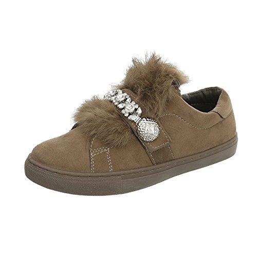 Design Zapatillas Ital 7924 para Plano mujer Zapatos Olive bajas Zapatillas FIw0g1