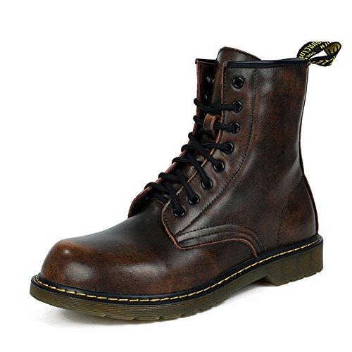 Mens freizeit sehnen schuhe kleid bergsteigen herbst outdoor große füße sport schuhe rutschen schwarzbraun-B Fußlänge=39EU