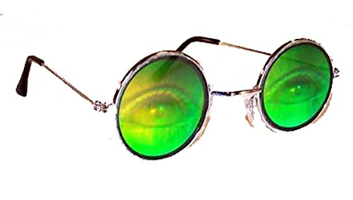 Human Eyes with Lashes Hologram 3d Novelty Adult Unisex - Hologram Sunglasses