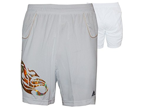 5cb416b313704 adidas Short de Sport Predator Lion Loisirs Pantalon Court Blanc S Weiß