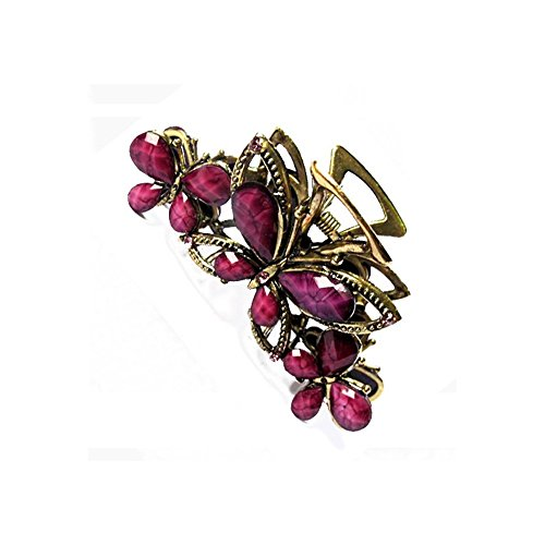 Hair Clip Hairpin accessories, fashion accessories, resin butterfly, hairpin, hair claw, diamond headwear, female girl purple