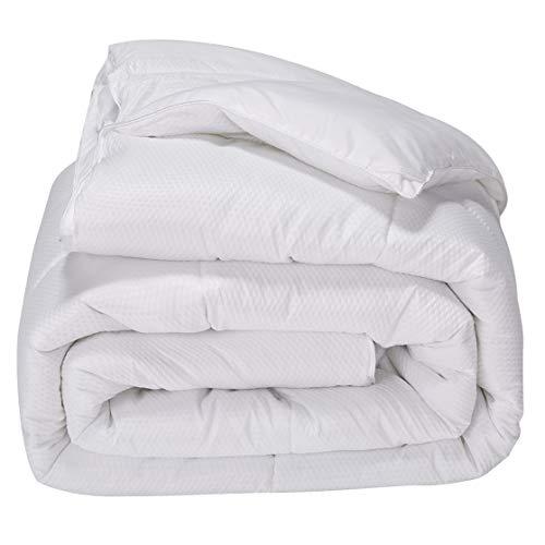 puredown Down Alternative All Season Comforter Polyester Fabric White ()