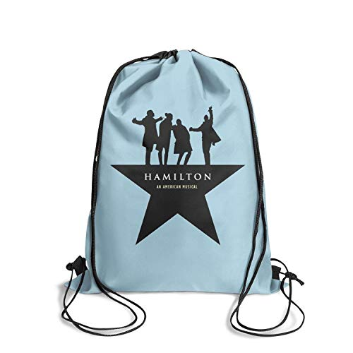 Drawstring Backpack Star All - Hamilton-Star-AN-AMERICAN- Cosmetic Bag drawstring Backpack Lightweight for Women Girls Party Travel