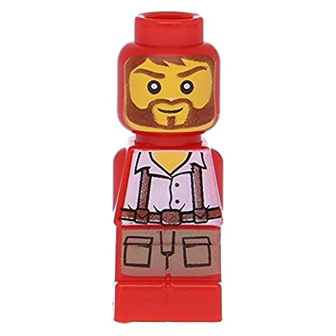 LEGO Microfig Ramses Return Adventurer Red (very small) - x1 Loose - Sand Mad Cat