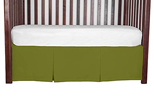 (Online1stChoice 100% Egyptian Cotton 800 Thread Count Tailored Crib Bed Skirt 15 Inches Long Color:)