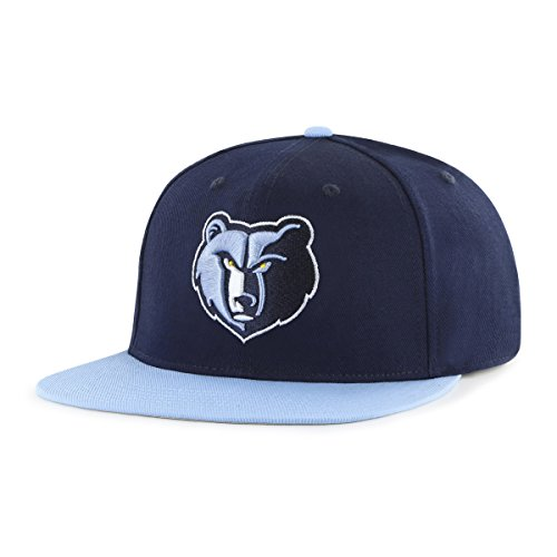 fan products of NBA Memphis Grizzlies Gallant OTS Varsity Snapback Adjustable Hat, Navy, One Size
