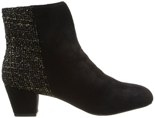 Nero Delle Schubar tweed Donne Gloria Biker Neri Boots Chocolate q8HZxww