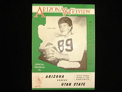 October 6, 1956 Utah State vs. University of Arizona Football Program (Arizona State Vs University Of Arizona Football)
