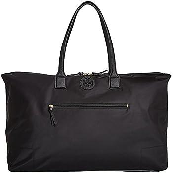 7bda1b25398f Tory Burch Ella Handbag Bag Nylon Packable Overnight Satchel Purse (Black)