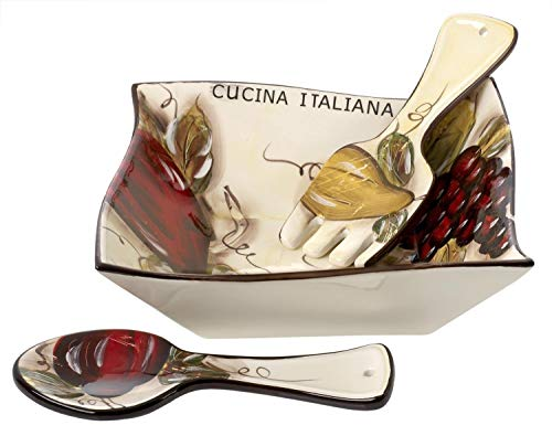 Cucina Italiana Ceramic Large Salad, Pasta Serving for sale  Delivered anywhere in USA