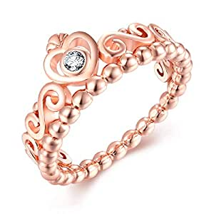 Corolla Qings Brand Rose Gold Plated Ring Fashion Jewelry for Women and Girls all ages The Perfect Gift for Mothers and Ladies 8US