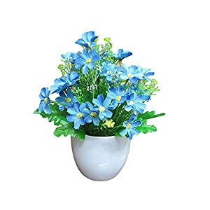 Guoainn 1Pc Artificial Potted Flower Garden DIY Party Home Holiday Xmas Craft Decoration Add Bauty to Your Life 68