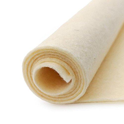 Straw Pale Yellow - Wool Felt Oversized Sheet - 35% Wool Blend - 3 12x18 inch Sheets ()