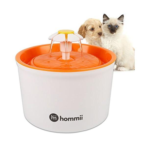Hommii-HP-88-Fuente-de-Agua-para-Perros-y-gatos-16L-Elctrico-Automtico-16-L-Fuente-de-Flor-Naranja