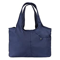 Zooeass Women Fashion Large Tote Shoulder Handbag Waterproof Tote Bag Multi Function Nylon Travel Shoulder Blue
