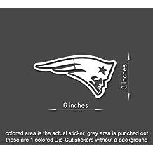 "New England Patriots Super Bowl Vinyl Decal Sticker Laptop, Tablet, Truck Window (White 6"" x 3"")"