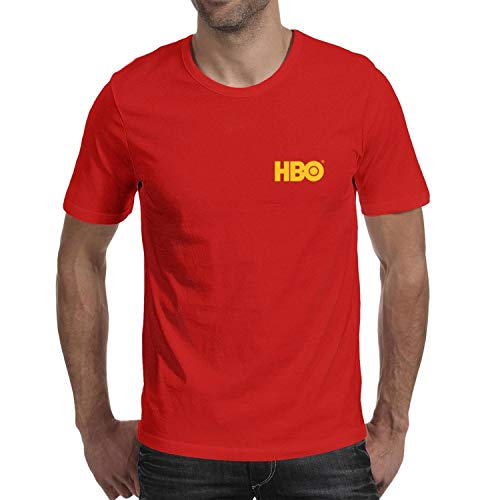 NZQNZ Men Short-Sleeves Cool Essential Color-HBO-Logo T Shirt Funny Graphic Tee for Men