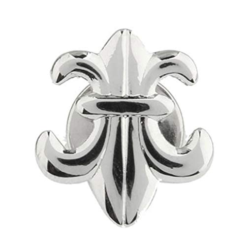Vcufflinks Fleur De Lis Silver Brooch Lapel Pin