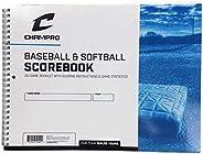 Champro Baseball Score Book (White), 52 Pages
