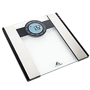 Weight Gurus Bluetooth Smart Bathroom Scale, Large backlit LCD display, 080