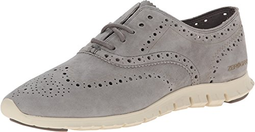 Cole Haan Women's Zerogrand Wing Ox Oxford, Ironstone Suede, 7.5 B US