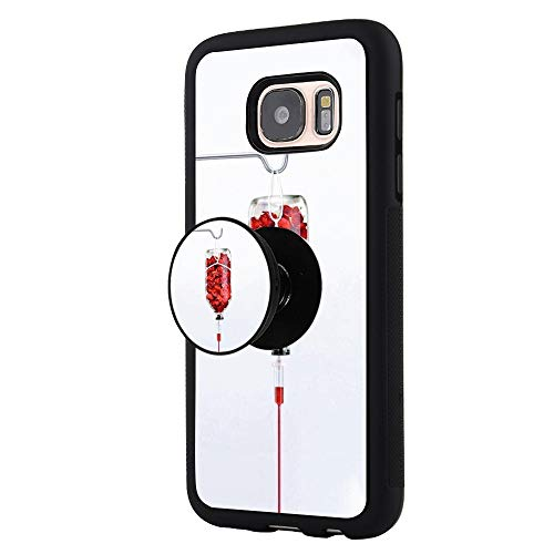 the best attitude 3a19c f16f1 Samsung Case for Samsung Galaxy S7 Edge Rose Infusion Waterproof Shockproof  Durable Protective Case with Pop Bracket Black Slide Cover Bumper Phone ...