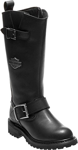 n's Chalmers 12.5-Inch Motorcycle Boots D87154 (Black, 8) ()