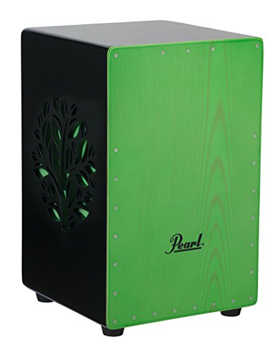 Pearl PBC53D536 3D Cajon with green faceplate and 3D tree (Lime Green Faceplates)