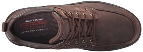 Skechers USA Uomo Holdren Charger Chukka, Brown scuro
