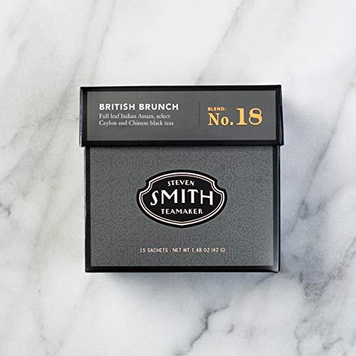 Smith Teamaker British Brunch (English Breakfast Full Leaf Black Tea), 1.48 oz, 15 Bags