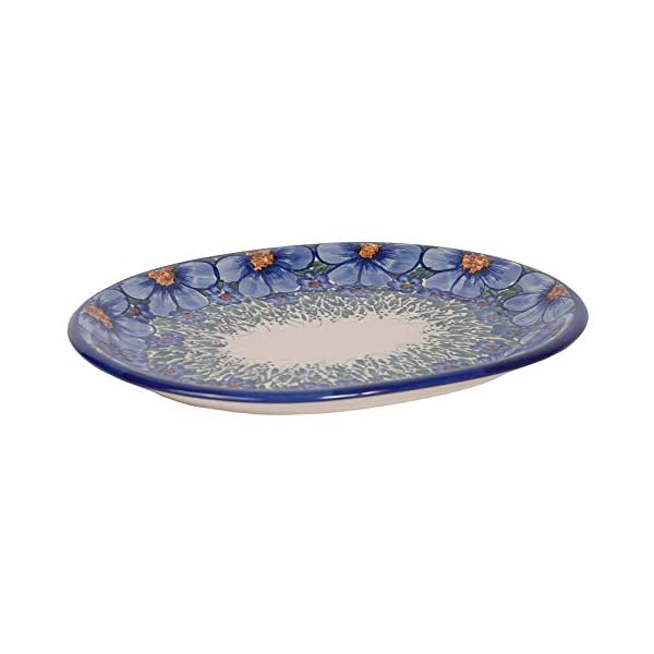 Traditional Polish Pottery, Handcrafted Oval Banquet Serving Platter 34cm, Boleslawiec Style Pattern, S.201.Credo